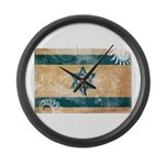 Israel Flag Large Wall Clock