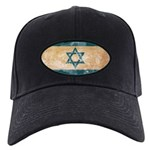 Israel Flag Black Cap
