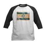 Israel Flag Kids Baseball Jersey
