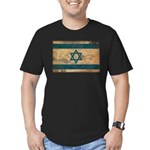 Israel Flag Men's Fitted T-Shirt (dark)