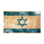 Israel Flag 38.5 x 24.5 Wall Peel