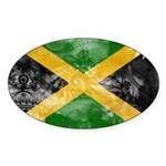 Jamaica Flag Sticker (Oval 10 pk)