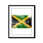 Jamaica Flag Framed Panel Print