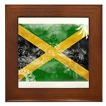 Jamaica Flag Framed Tile