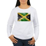 Jamaica Flag Women's Long Sleeve T-Shirt