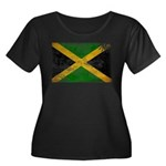 Jamaica Flag Women's Plus Size Scoop Neck Dark T-S
