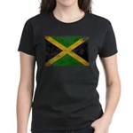 Jamaica Flag Women's Dark T-Shirt