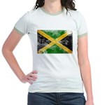 Jamaica Flag Jr. Ringer T-Shirt
