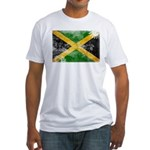 Jamaica Flag Fitted T-Shirt