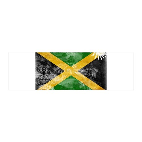 Jamaica Flag 42x14 Wall Peel