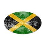 Jamaica Flag 38.5 x 24.5 Oval Wall Peel