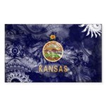 Kansas Flag Sticker (Rectangle 50 pk)