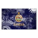 Kansas Flag Sticker (Rectangle 10 pk)