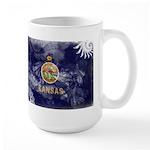 Kansas Flag Large Mug