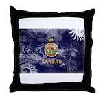 Kansas Flag Throw Pillow
