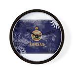 Kansas Flag Wall Clock