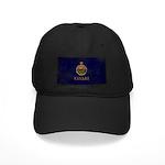 Kansas Flag Black Cap