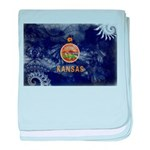 Kansas Flag baby blanket