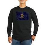 Kansas Flag Long Sleeve Dark T-Shirt
