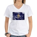 Kansas Flag Women's V-Neck T-Shirt