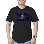 Kansas Flag Men's Fitted T-Shirt (dark)