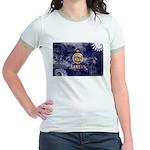 Kansas Flag Jr. Ringer T-Shirt