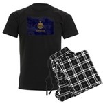 Kansas Flag Men's Dark Pajamas