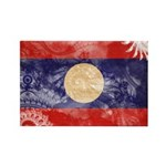 Laos Flag Rectangle Magnet (100 pack)