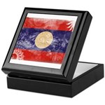 Laos Flag Keepsake Box