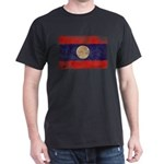 Laos Flag Dark T-Shirt