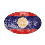 Laos Flag 22x14 Oval Wall Peel