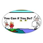 Comic You Can Do Sticker (Oval)