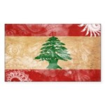 Lebanon Flag Sticker (Rectangle 10 pk)