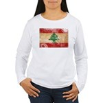 Lebanon Flag Women's Long Sleeve T-Shirt