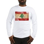 Lebanon Flag Long Sleeve T-Shirt