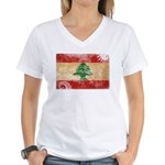 Lebanon Flag Women's V-Neck T-Shirt