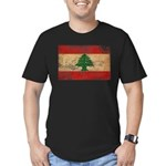 Lebanon Flag Men's Fitted T-Shirt (dark)
