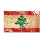 Lebanon Flag 22x14 Wall Peel