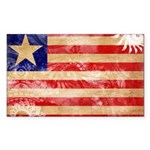 Liberia Flag Sticker (Rectangle 50 pk)