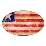 Liberia Flag Sticker (Oval 10 pk)