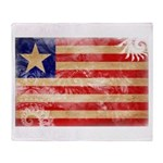 Liberia Flag Throw Blanket