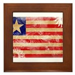 Liberia Flag Framed Tile