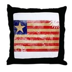 Liberia Flag Throw Pillow