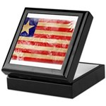 Liberia Flag Keepsake Box