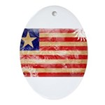 Liberia Flag Ornament (Oval)