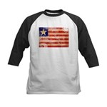 Liberia Flag Kids Baseball Jersey