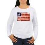 Liberia Flag Women's Long Sleeve T-Shirt