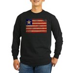Liberia Flag Long Sleeve Dark T-Shirt