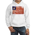Liberia Flag Hooded Sweatshirt