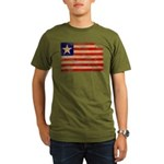Liberia Flag Organic Men's T-Shirt (dark)